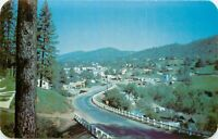 Chrome Postcard CA K371 Mariposa County Hillisde View Highway 49 Yosemite Valley