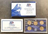 USA 2008 S State Quarter Proof Set San Francisco PP polierte Platte 25c QUARTERS