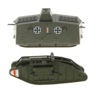 1/100th Diecast British MK.IV Male Tank German A7V Panzer WWI Military Model