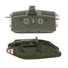 1/100th Diecast British MK.IV Male Tank German A7V Panzer WWI Military Model