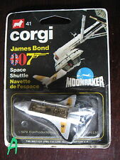 CORGI JUNIOR SPACE SHUTTLE MOONRAKER BOND 007 MINT ON CARD
