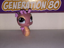 Littlest PetShop HIPPOCAMPE ROSE 660 J030 SEAHORSE SEA HORSE Pet Shop