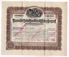 Tamarack & Custer Consolidated Mining stock certificate