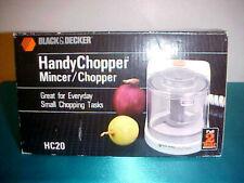 "Vintage 1988 Black & Decker ""HandyChopper"" Mincer/Chopper Hc20 ~ New!"