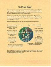 Book of Shadows Spell Pages ** Planting a Witch's Garden ** Wicca Witchcraft BOS