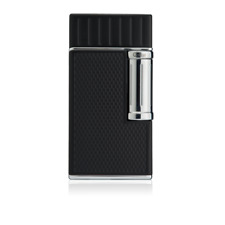 Colibri Julius Classic Cigar Luxury Lighter Double Soft Flame in Black & Chrome