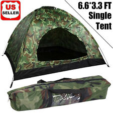 Outdoor Camping Tents Waterproof 1 Person Folding Tents Camouflage Hiking Travel