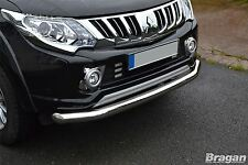 To Fit 2015+ Mitsubishi L200 / Triton / Strada Bumper Spoiler Nudge Bar Polished