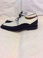 Mezan Black And White Men's Shoes Size 8