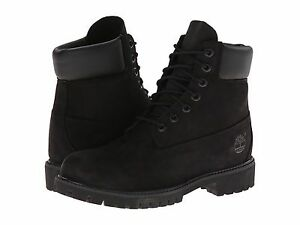 Women's Shoes Timberland 6 INCH PREMIUM Waterproof Lace Up Boots BLACK 8658A New