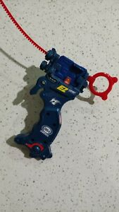 A-43 Customize Grip Tyson Blue EZ Launcher Shooter  With launcher and ripcord