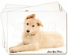 White German Shepherd 'Love You Dad' Picture Placemats in Gift Box, DAD-44P
