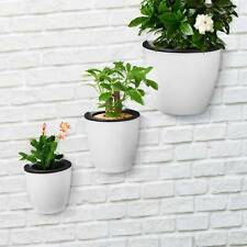 More details for 3pcs wall hanging plant flower pot self-watering plastic planter house garden