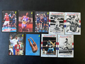 Lot Of 9 Olympic Cards- 1991 Impel Hall Of Fame And 1992 Classic