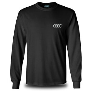 Genuine Audi tt Sport Car Racing Streetwear Sport Black Long Sleeve Tee T-Shirt