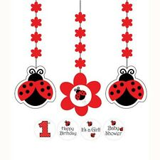 """""""LADYBUGS""""   Pack of 1 - Ladybug Fancy Pinata With Pull Strings - Cardboard!"""
