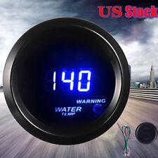 "Car Motor Universal Black 2"" 52mm Blue Digital LED Fahrenheit Water Temp Gauge"