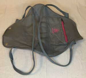 GAIAM YOGA MAT HOLDER w/ Shoulder Strap & Zipper Compartment, Gray/Pink