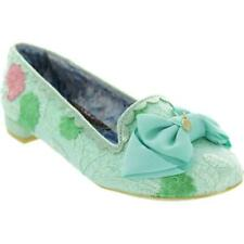 Irregular Choice Sulu (K) Green Slip On Flat / Low Heel Shoes