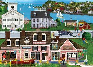 Jigsaw Puzzle Americana Hammock Bay Seascape Harbor Boat Shop 1000 pieces NEW