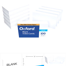 Oxford 30 1000 Pk Blank Index Cards 3 X 5 White 1000 Cards 10 Packs