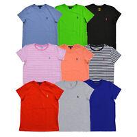 Ralph Lauren Womens Crew Neck Jersey T-shirt Random Lot of 5 Tees Xs S M L Xl