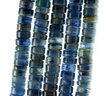 "8X4-8X5MM BLUE KYANITE GEMSTONE GRADE A  HEISHI SLICE LOOSE BEADS 4"""