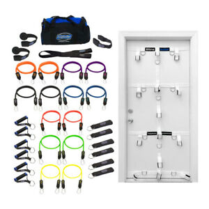 Bodylastics 31 Piece Exercise Equipment Tension Bundle Set w/ Ultra Door Anchor