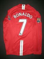 2007-2009 Nike Manchester United Cristiano Ronaldo Long Sleeve Jersey Shirt M
