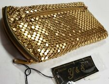 New Y&S Handbag Gold Sequence Cell Phone Pouch / Wallet w/ Zippers Change Purse