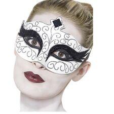 Women's Girls Black Swan Eyemask Gothic Halloween Masquerade Mask Fancy Dress