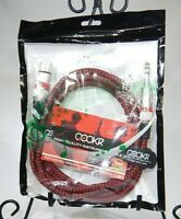 """Microphone Cables 6.5' 3 Pin XLR Female To 1/4"""" TRS Balanced Mono Audio Tweed T3"""