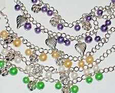10pc HUGE LOT big Wholesale heart rose dangle charms Bracelets tiny pendants Mix