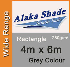 Extra Heavy Duty Shade Sail Grey Rectangle 4x6m, 4m x 6m, 4 by 6m, 4 x 6m 4mx6m
