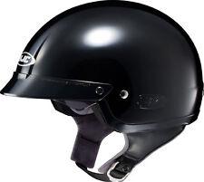 HJC IS-2 Black Large Half Shell Cruiser Motorcycle Helmet W/ Shield Flip Visor