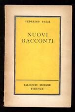 TOZZI FEDERIGO NUOVI RACCONTI VALLECCHI 1960 I° EDIZ.