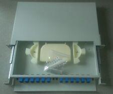 24 Fiber Rack/Cabinet Mount Splice/Distribution panel SM SCU ADC Corning Telect