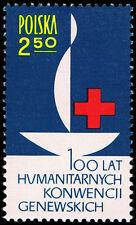 Polska Poland 1963 Fi 1244 Mi 1392 MNH Czerwony Krzyż