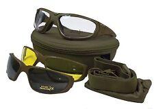 Multi-lens combattere Occhiali Tactical UV 400 Militare Occhiali di sicurezza-Verde Oliva