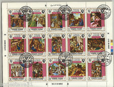 A BEAUTIFUL S/S OF CTO/NH STAMPS ' THE LIFE OF CHRIST' 1968 KINGDOM OF YEMEN