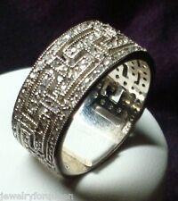 Stunning 1.80ctw CZ Cubic Zirconia Wedding / Anniversary Band Ring Size 10