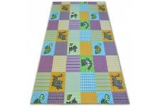 Fitted Carpet for kids PETS Width 100-400 cm cat turtle animals pink yellow blue
