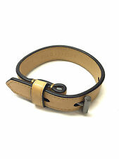 New REED KRAKOFF Camel Leather Band Gunmetal T-Toggle Buckle Closure Bracelet
