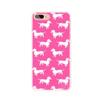 Dachshund Sausage Dog Iphone 7 Case Doxie Pink Silhouette Accessory Puppy UK