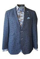 GIORDIANO Blue Paisley Print Blazer and Shirt Set (IT 52)