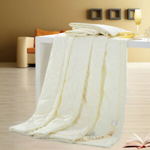 Silk Blend Comforter Mulberry Filled Comforter Silk Duvet Single Quilt Blanket