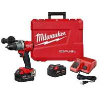 Milwaukee 2804-22 M18 FUEL 18V 1/2-Inch Lithium-Ion Brushless Hammer Drill Kit