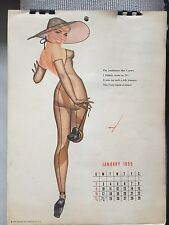 Vintage Pin-Up Girls Esquire 1955 Full Year Calendar by Petti