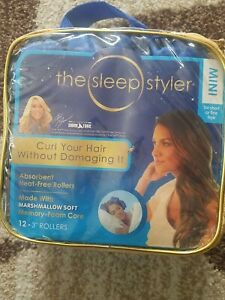 """Lot 2 THE sleep Styler  Curl your Hair Without Damaging 12-3""""Rollers mini"""