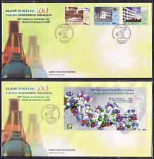 2000 Malaysia 100 Years Institute Medical Research, 3v & MS on 2 FDC (Melaka)